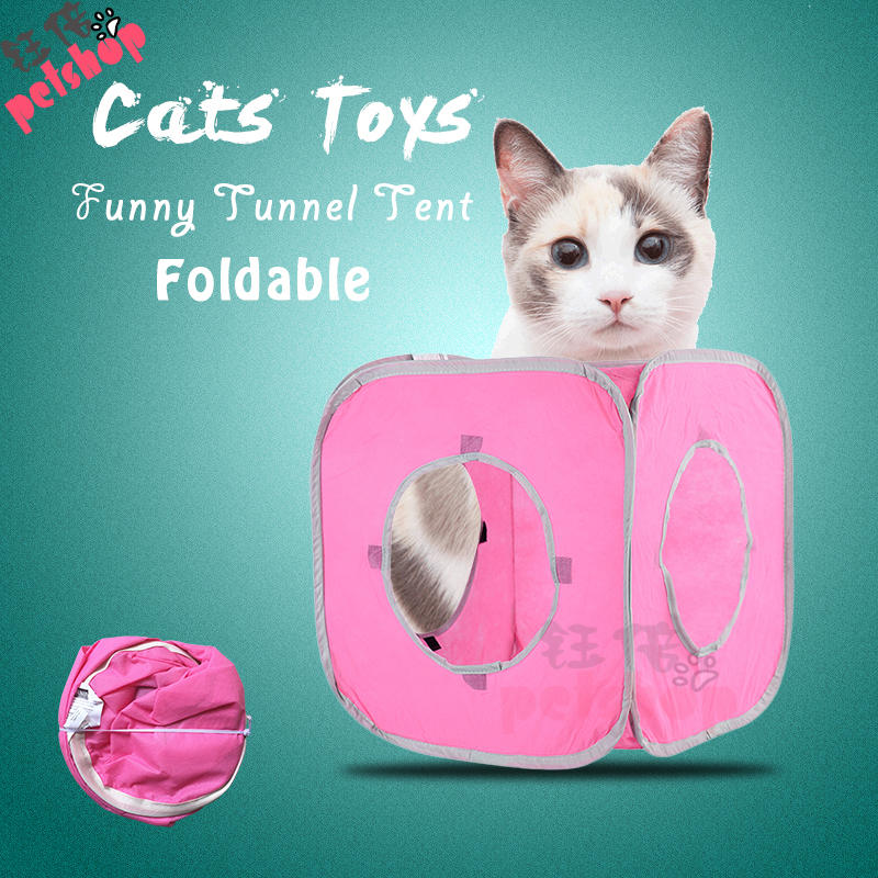 Pet Cat Tunnel Tent Toy Foldable 3 Holes Pet Products Cat Supplies for Cat Toys Tunnels House Beds Mats Rabbit Fun Play Games