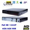 CCTV NVR 4CH 8CH Full HD 1080P 2 MP IP Camera Network Video Recorder Surveillance 4Channel NVR 8Channel Cloud P2P ONVIF SPSR