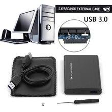 2.5 дюймовый внешний HDD SSD USB 3.0 жесткий диск мобильного внешний корпус металлический корпус с USB кабель для Windows 7/8 или Mac OS