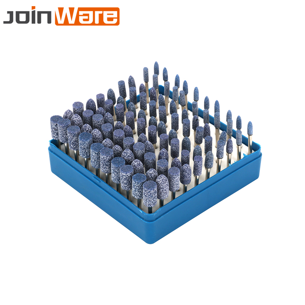 цена на 100Pcs Assorted Abrasive Ceramic Mounted Point Grinding Stone Head Wheel Set With 1/8 3MM Shank For Mini Drill Rotary Tool New