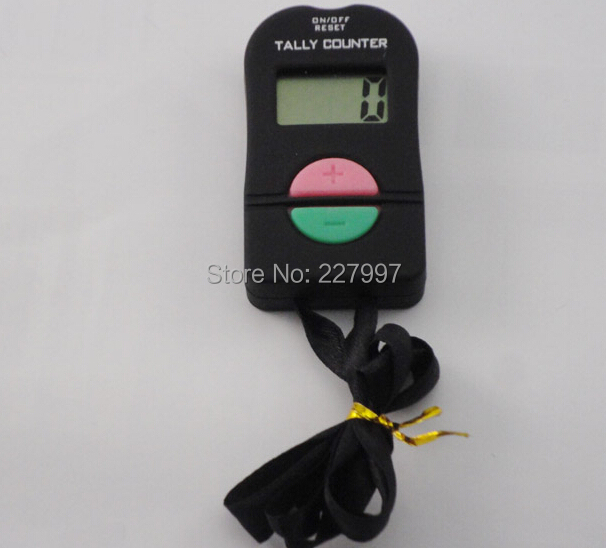 Digital Hand Tally Counter Electronic Manual Clicker ADD/SUBTRACT MODEL For Golf Sports Muslim Free shipping Wholesale 240pcs