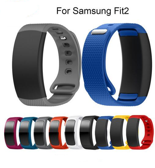 50PCS For Samsung Gear Fit 2 SM R360 watch Wristband Watch band sport Silicone Watch Replacement