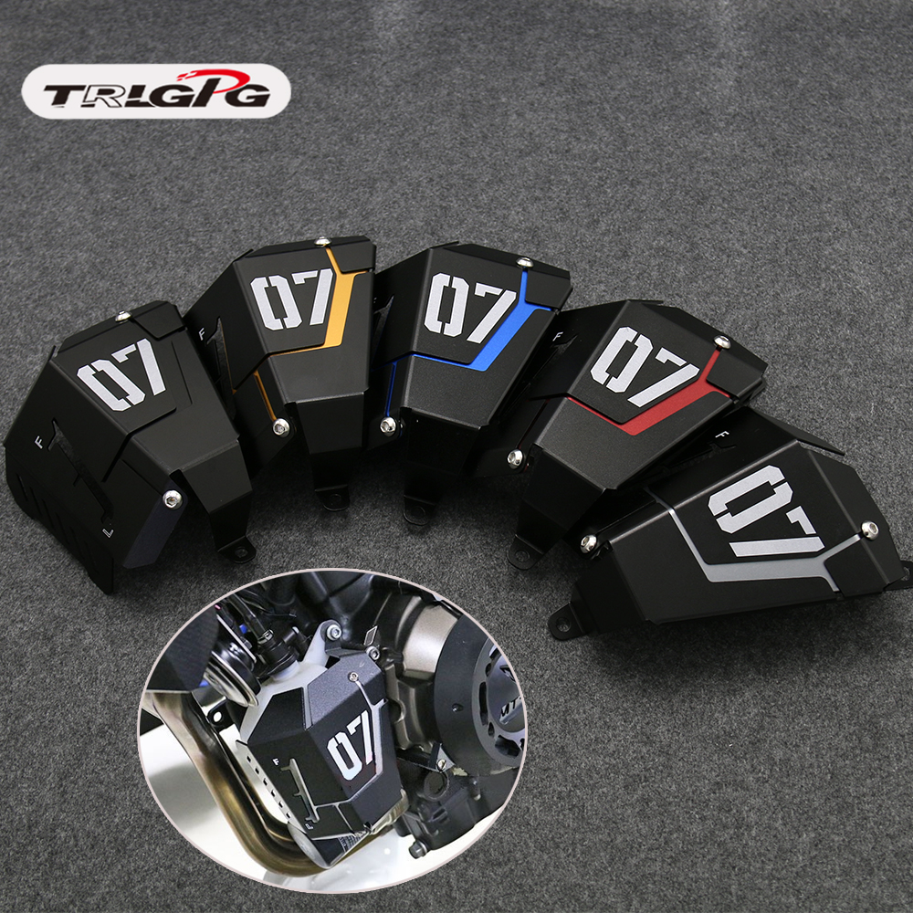 FZ07 MT-07 Coolant Recovery Tank Shielding Cover For Yamaha MT-07 FZ-07 MT 07 FZ 07 2014 2015 <font><b>2016</b></font> 2017 2018 2019 image