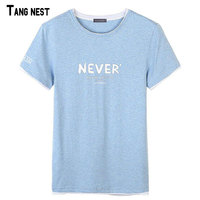 TANGNEST Summer T Shirts 2018 New Casual O Neck Breathable Top Tees Male Letter Print T