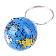 New 2Pcs World Map Globe Keychain Keyring Jewelry Earth Globe Art Pendant Keychains Gift
