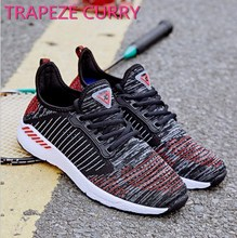 New listing hot sale summer men women Flying line Breathable running shoes sports shoes Couple shoes large size 36-46 T1709