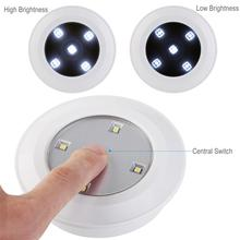 Jiaderui LED Wireless Remote Control Puck Night Light Kitchen Lamp Cabinets Closets Children Bedroom Battery Powerd