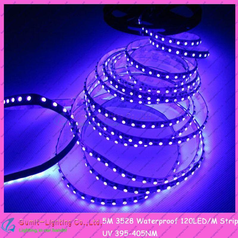 5M/Roll 600LEDs 3528SMD DC12V 120led/m Flexible LED Strip Non-Waterproof Purple/Ultraviolet/UV Strip Light
