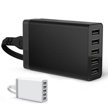 Fast 5 Port Wall Home Charger Adaptor 40 watt 5V 8A EU US UK Plug AC To USB power socket Station For Mobile phone tablet
