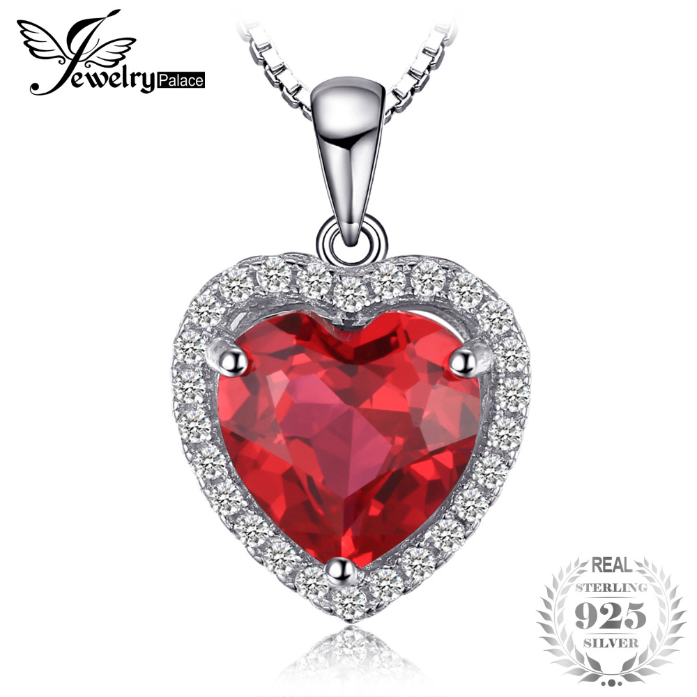 Heart 3.9 ct Created Red Ruby Love Forever Halo Pendant Solid 925 Sterling Silver Fine Jewelry Not Include A Chain