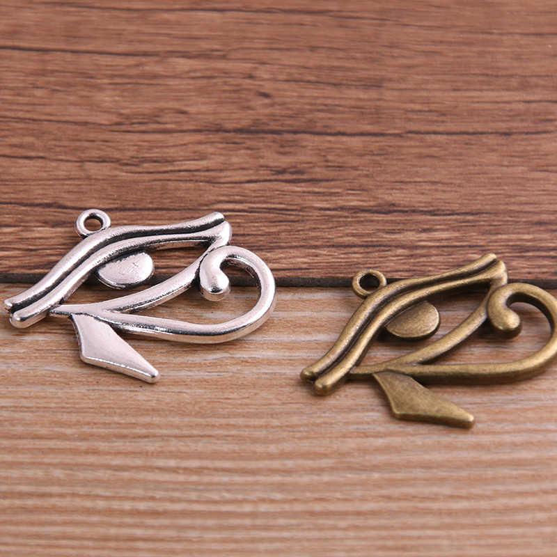 8 шт. 26*30 мм, двухцветные Подвески с изображением коров, египетских глаз Египта, ожерелья, браслета, изготовление ювелирных изделий
