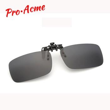 6564938cc6 Pro Acme Unisex rectángulo polarizado Clip en gafas de sol hombres/mujeres  espejo revestimiento lente