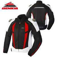 BENKIA Motorcycle Jacket Moto Jacket Men Racing Clothes Spring And Autumn Mesh Breathable Riding Anti Wrestling