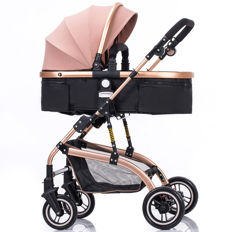 Baby Stroller 2 In 1 High Landscape Shock Baby Stroller Two-way Sitting Folding Baby Car  Foldable Dolly Baby Carriage 0-3YBaby Stroller 2 In 1 High Landscape Shock Baby Stroller Two-way Sitting Folding Baby Car  Foldable Dolly Baby Carriage 0-3Y