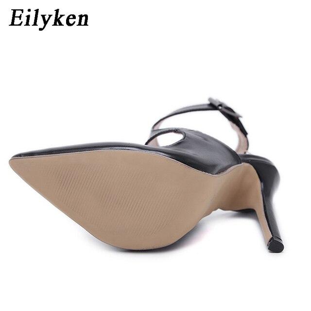 Eilyken 2018 New Design Autumn High Heels Pumps Sandals 12.5CM Fashion Pointed Toe Buckle Strap Gladiator Thin Heel Woman Shoes 4