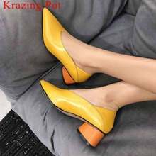 Slip on pointed toe  pumps shoes