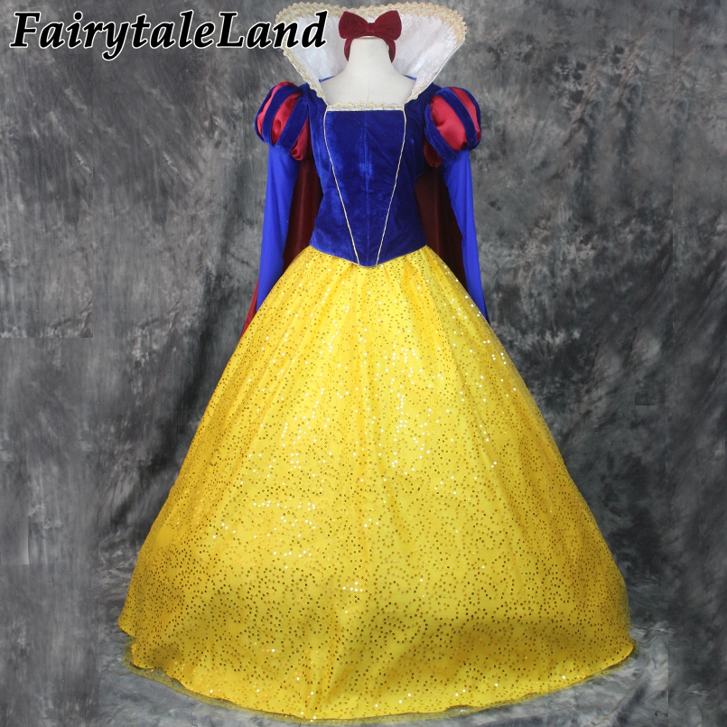 Princess Snow White Costume Adult Women Halloween Cosplay Princess Costume Snow White Dress Long sleeve Princess Suit