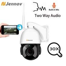 Jennov 1080 P 4,5 дюйма 30X зум панорамная камера наблюдения с наклоном и зумом безопасности Скорость купол Камера видеонаблюдения IP Камера Открытый Wi-Fi двухстороннее аудио ONVIF
