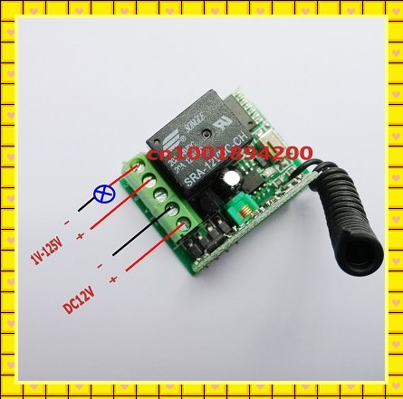 12 в мини-реле размера приемник+ передатчик пульт дистанционного управления Переключатель системы большой диапазон высокой мощности переключатель, Моментальное Обучение код