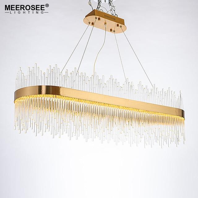 Modern led pendant light crystal rods hanging lamp for dinning room modern led pendant light crystal rods hanging lamp for dinning room gold oval suspensionluminaire abajur aloadofball Images