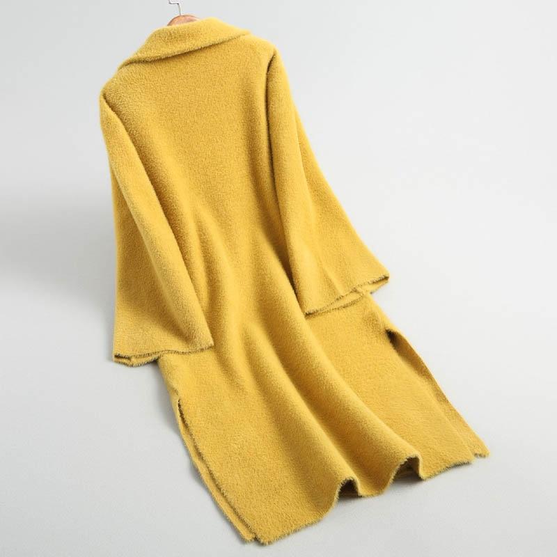 Tricot Conception Noir J189 Moelleux Femmes Doux Chic Diamant De Chaud Dames as ivoire Longue Veste Outwear jaune Picture D'hiver Luxe Tops Couleur Vestes Plaid Toucher rnn0cxW