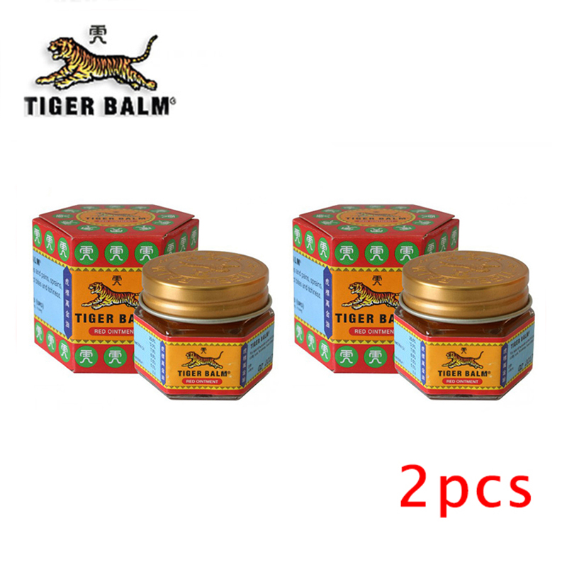2pcs Red Tiger Balm Ointment  Painkiller Ointment Muscle Pain Relief Ointment Soothe Itch
