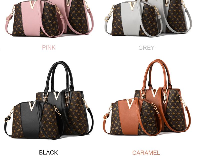 Women Bags Set 2 Pcs Leather Handbag Women Tote Bag Ladies Shoulder Bag for Women 2018 Messenger Bag Sac a Main 35