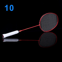 Ultralight 6U Badminton Racket Professional Carbon Portable Free Grips Sports BB55