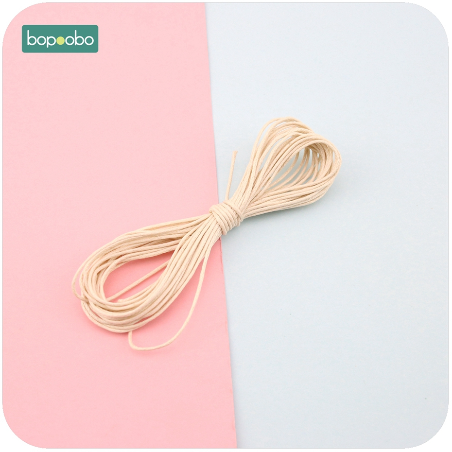 Bopoobo Baby Teether Accessories DIY Rope 1 Strands Waxed Twisted Waxed Cotton Cord String Thread Line 1mm 5 Meters Wax Line