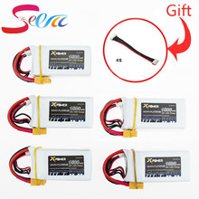 5pcs 1500Mah 14.8V 4S 45C Lithium Li-po Battery XT60 Plug For RC Helicopter Qudcopter Drone Truck Car Boat Bateria parts