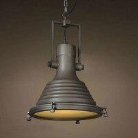 Промышленные волны морской подвесной светильник Ретро Винтаж ржавчины сделать старый книги по искусству деко Лофт кирпич освещение