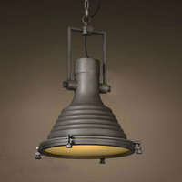 Industrial Wave Nautical Pendant Lamp Hanging Light Retro Vintage Rust Make to old Art Deco LOFT Brick Lighting