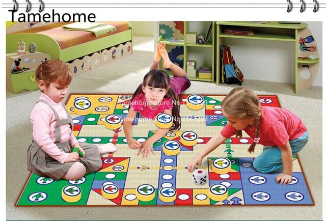 Nicerug Education Flying Chess Child Carpet Aeroplane Mat Play Puzzle Foam Educational Picnic