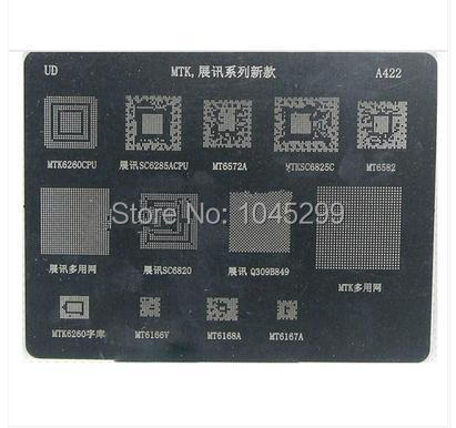 US $5 0  2pcs/lot BGA Reballing Stencil for MT6572A SC6825C MT6582 MTK6166  A422-in Mobile Phone Circuits from Cellphones & Telecommunications on