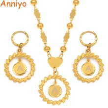 Anniyo A Z Letters Pendant Necklaces sets Women Girls English Initial Alphabet Ball Bead Chains Marshall Hawaii Jewelry #192606