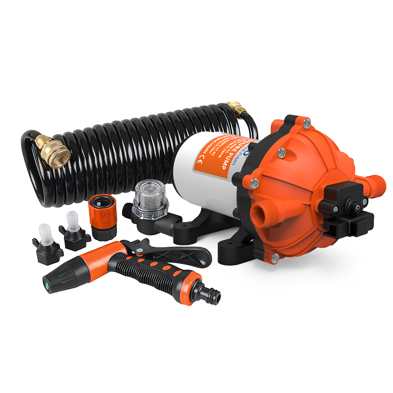 SEAFLO 12V 5.5 GPM 70 PSI Washdown Deck Pump KIT Rv Boat Marine Self Priming 5 Chamber positive displacement diaphragm pump