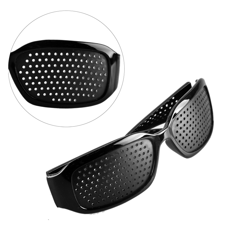 b00ad989af77 Black Pinhole Sunglasses Anti fatigue Vision Care Microporous Glasses Eye  Exercise Eyesight Improve Anti myopia Unisex Eyewear-in Face Skin Care  Tools from ...
