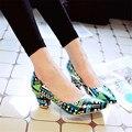 2016 nueva moda sumwer clásico color mezclado señalaron-toe bombas mujeres zapatos de tacón alto zapatos cómodos y breathess ss50