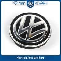 Novo oem 56mm centro da roda hub tampões logotipo emblema emblema para vw volkswagen novo polo jetta mk6 bora 6cd 601 171 xqi