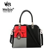 AOU Marke Fashion Frauen Tote Tasche frauen handtaschen Kunstleder Damen Patchwork Tasche Weibliche Handtasche Frauen Messenger Bags