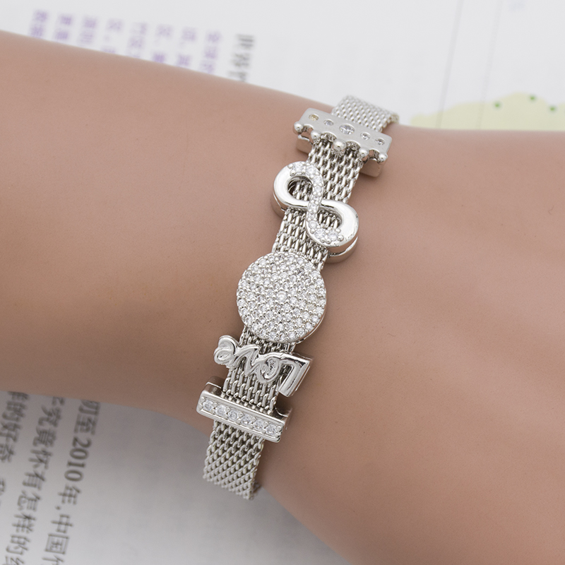 a5c183406 925 Sterling Silver hgih qualityl Pandora REFLEXIONS BRACELET Charms bead  for women Bracelet 2color can choose