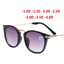 Новые готовые солнцезащитные очки для близорукости, модная оправа для близорукости и линзы 100-400 градусов солнцезащитные очки-1-1,5-2-2,5-3-3,5-4,0
