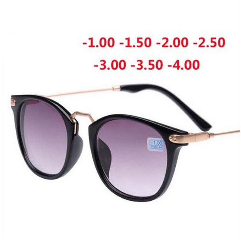 2019 New Finished Myopia Sun Glasses, Fashion Myopia Frame And Lens 100-400 Degrees Sunglasses -1 -1.5 -2 -2.5 -3 -3.5 -4.0