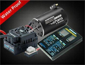 EZRun WP-SC8 ESC+ 3656 3400KV мотор+ Pro-card Combo для 1/10 коротких грузовиков/больших колес/грузовых SC-C1