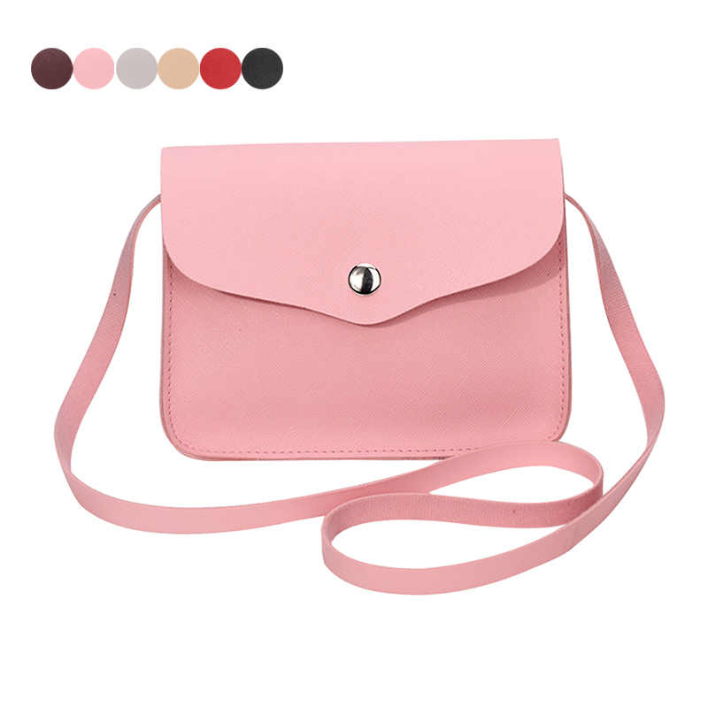63ccf8680ff Fashion Women Candy Color Shoulder Bag Leather Purse Adjustable Strap  Summer Ladies Girl Causal Messenger Crossbody