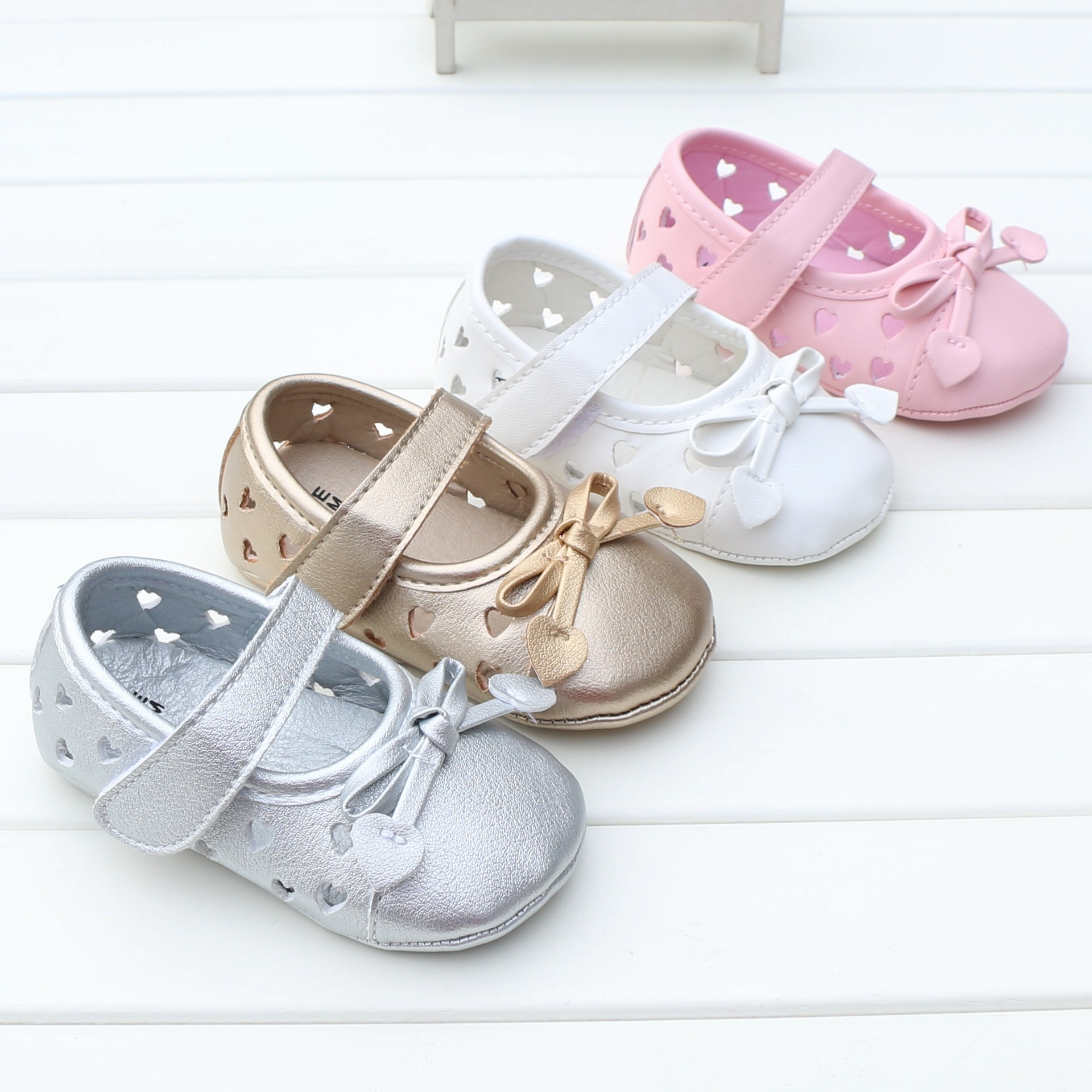 Baby First Walkers Baby Shoes Cute Soft Bottom Pu Non-slip Toddler Shoes for Baby Girls ...