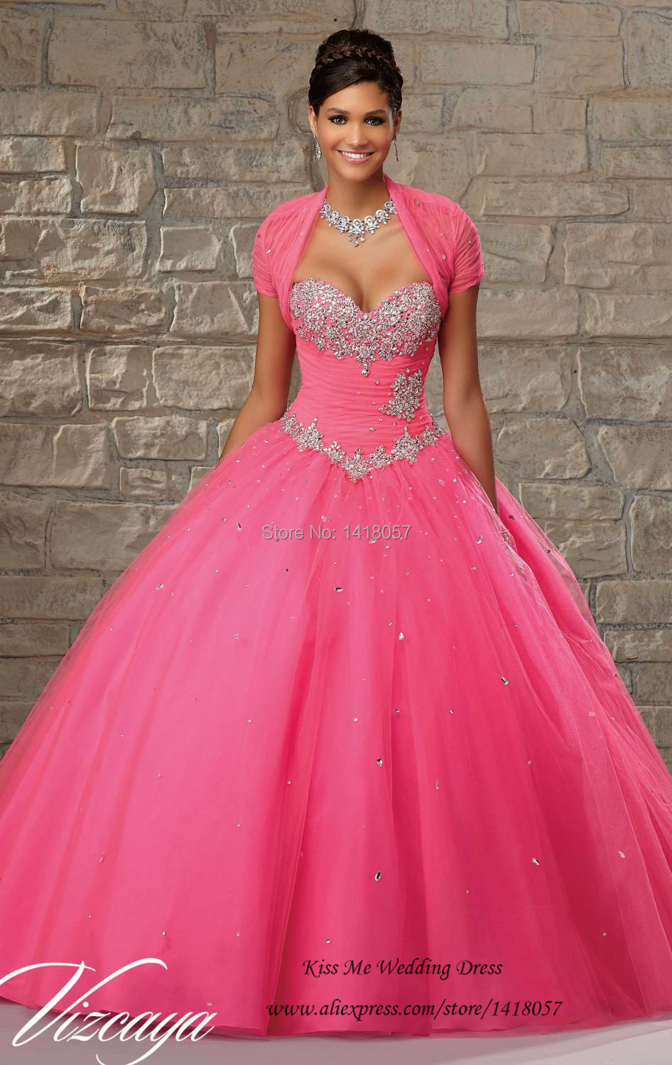 Sweet 16 Dresses Sage Cheap Quinceanera Gowns with Jacket Crystals ...