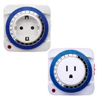 EU/US 24 Hour Timer Socket Mechanical Program Timer Switch Socket Wall Outlet ProtectorEnergy Saveing Plug