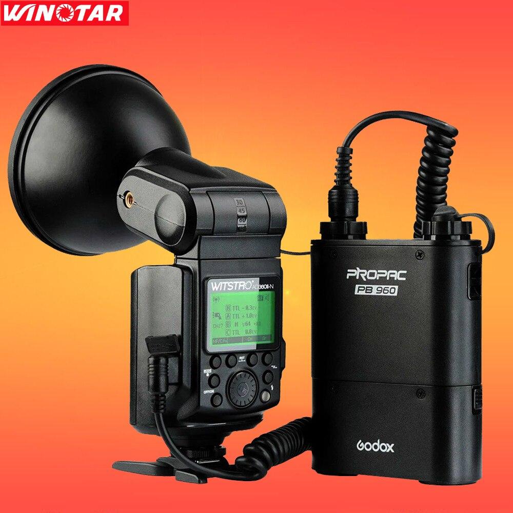 Godox AD360 360W Wistro AD360II-N Flash Speedlite Light with PB960 Battery For Nikon DSLR Camera free tax to russia new 42cm godox ad s3 beauty dish with grid for witstro speedlite flash ad180 ad360