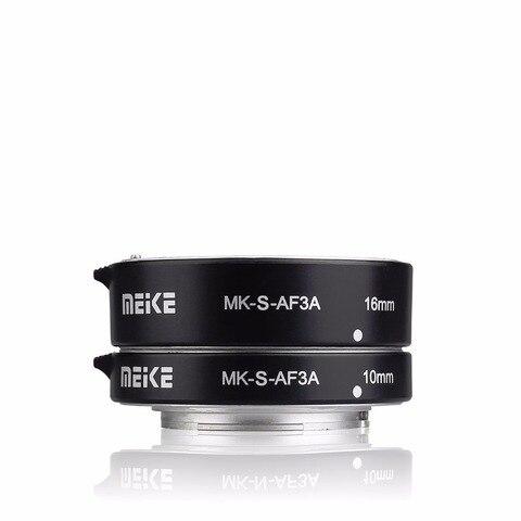 Tubo de Extensão 16mm para Sony Meike Metal Auto Foco Macro 10mm Mirrorless A6500 a9 A7r3 A7r4 Nex E-mount Câmera Mk-s-af3a